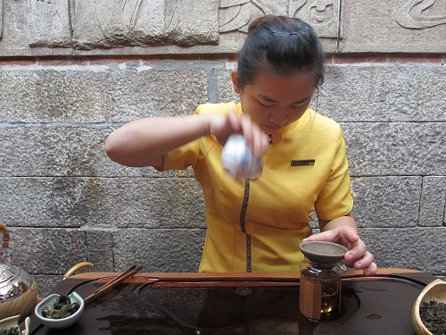 Gong fu ceremony